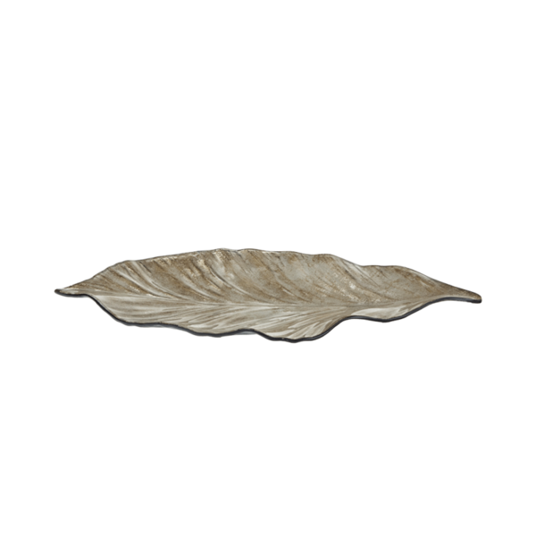 Стъклено плато - Листо 40.5см - Седеф 78028463