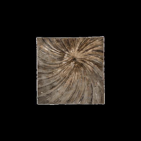 Стъклено квадратно плато 33см - Седеф 78028446