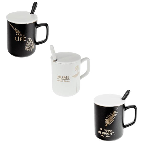 Чаша за чай с капаче и лъжичка 79028756