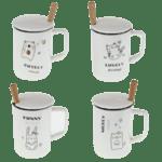 Чаша за чай с лъжичка и капаче