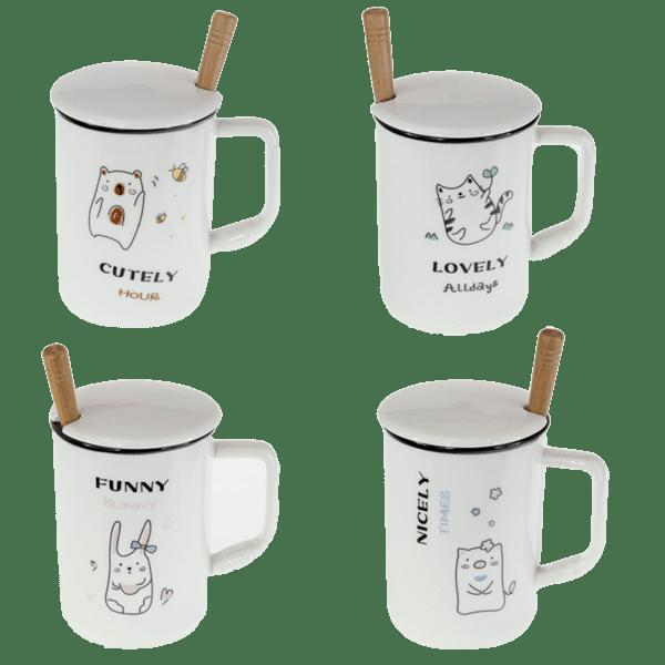 Чаша за чай с лъжичка и капаче 79028755