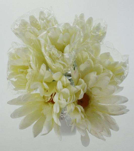 Изкуствен букет Хризантема в четири цвята 30см 77025764