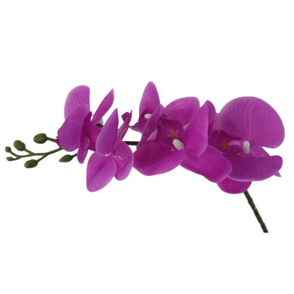 Изкуствено цвете Орхидея в два цвята 50см 77025786