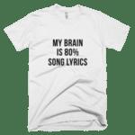 My Brain is 80% Song Lyrics