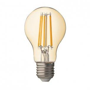 LED-крушка ULTRALUX LED FILAMENT, ДИМИРАЩА, 7.5W, E27, 2500K, АМБЪР