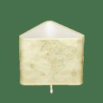Настолна лампа МАГЕЛАН бял, абажур Глобус, 1xE27