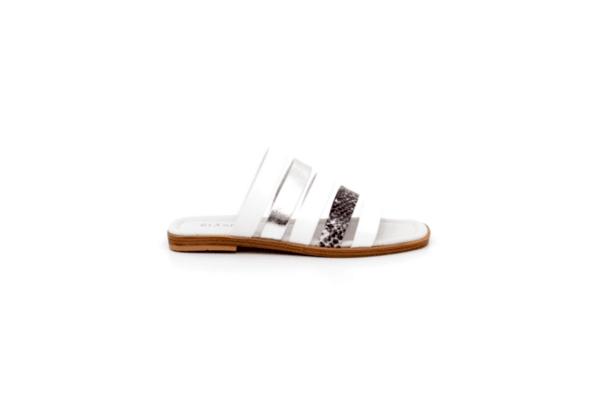 Ежедневни бели дамски чехли от естествена кожа 06.48820