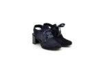 Елегантни сини дамски сандали от естествен велур на висок ток 29.11204