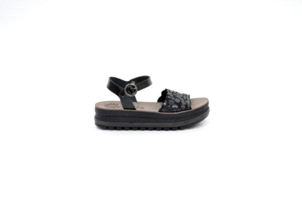 Ежедневни черни дамски сандали от естествена кожа 42.104