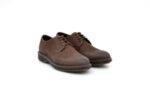Ежедневни кафяви мъжки обувки от естествен набук 14.81422