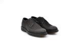 Ежедневни черни мъжки обувки от естествен набук 14.81422