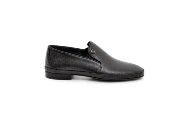 Ежедневни черни мъжки обувки от естествена кожа 18.23218