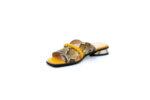 Дамски жълти чехли от естествена кожа на висок ток 29.11800