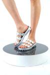 Дамски сиви чехли от естествена кожа 42.9012