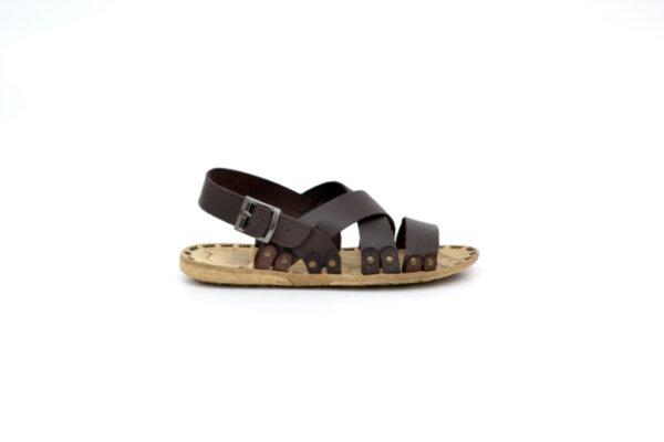Мъжки кафяви сандали от естествена кожа 13.1716