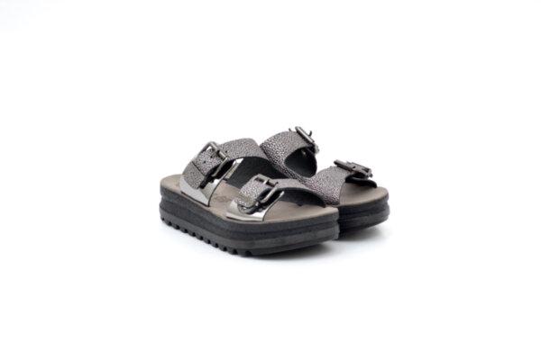 Ежедневни черни дамски чехли от естествена кожа 42.102