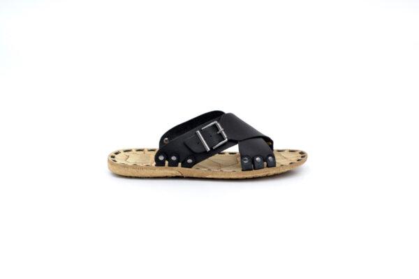 Мъжки черни чехли от естествена кожа 13.1717