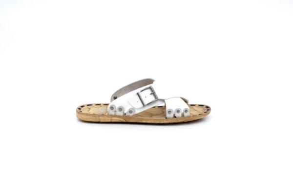 Мъжки бели чехли от естествена кожа 13.1717
