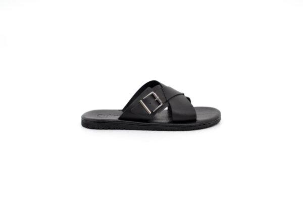 Мъжки черни чехли от естествена кожа 13.1992