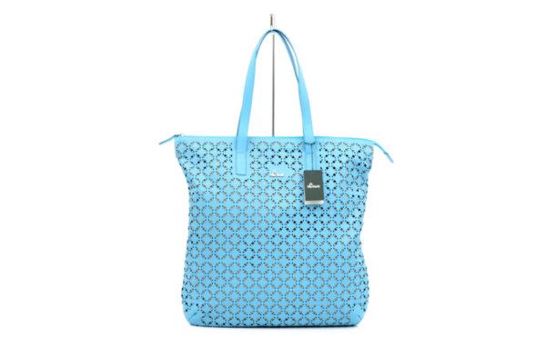 Дамска синя чанта от естествена кожа 16.205