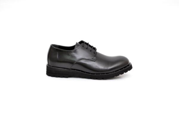 Ежедневни черни мъжки обувки от естествена кожа 11.9111