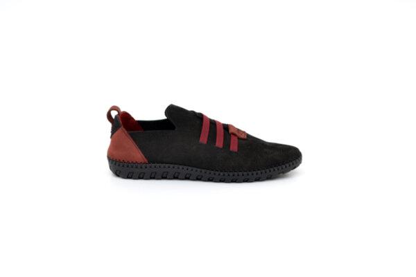 Ежедневни черни мъжки обувки от естествен набук 55.315
