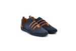 Ежедневни сини мъжки обувки от естествен набук 55.315