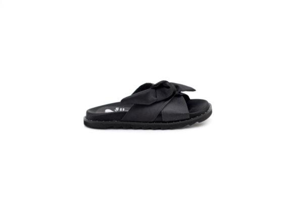 Дамски черни чехли от текстил 40.2006