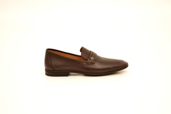Ежедневни кафяви мъжки обувки от естествена кожа на висок ток 18.27500