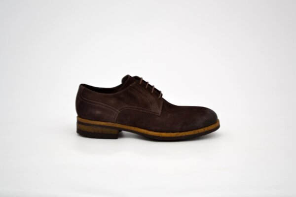 Ежедневни мъжки кафяви обувки от естествена кожа 12.41294