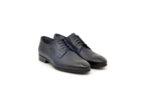Елегантни сини мъжки обувки от естествена кожа 18.26420