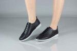 Ежедневни черни дамски обувки от естествена кожа 06.40
