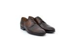 Елегантни кафяви мъжки обувки от естествена кожа 18.27361