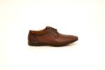Ежедневни кафяви мъжки обувки от естествена кожа 18.27552