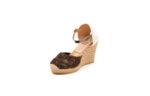 Ежедневни кафяви дамски сандали на висок ток 41.7340