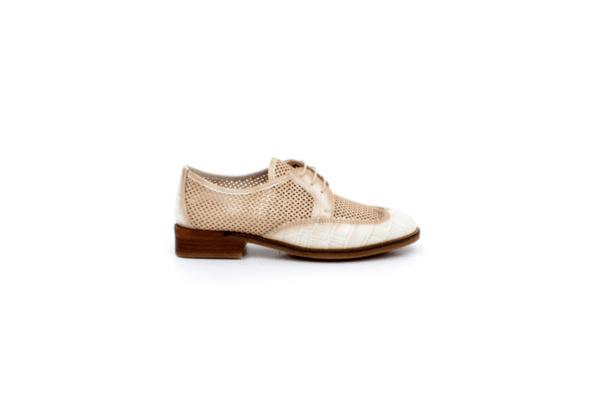 Ежедневни бежови дамски обувки от естествена кожа 37.00243