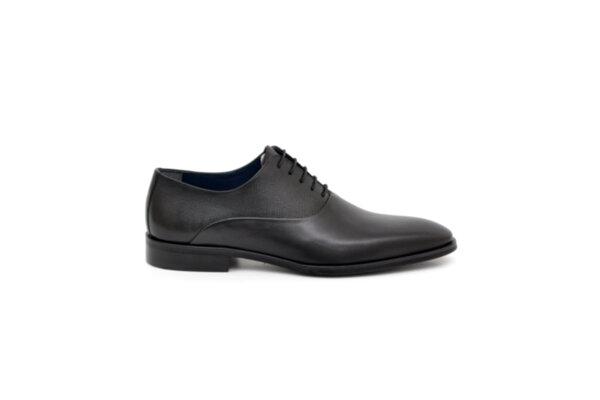 Елегантни черни мъжки обувки от естествена кожа 18.1206