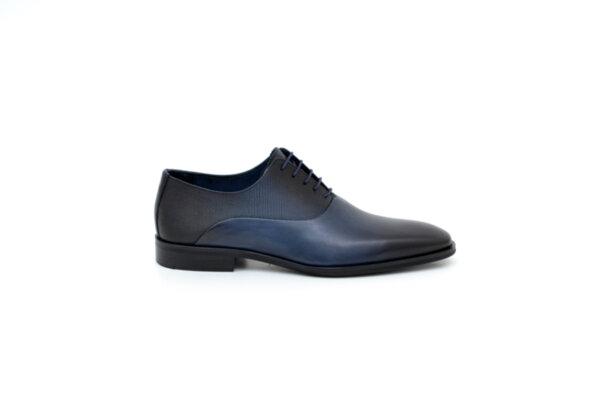 Елегантни сини мъжки обувки от естествена кожа 18.1206