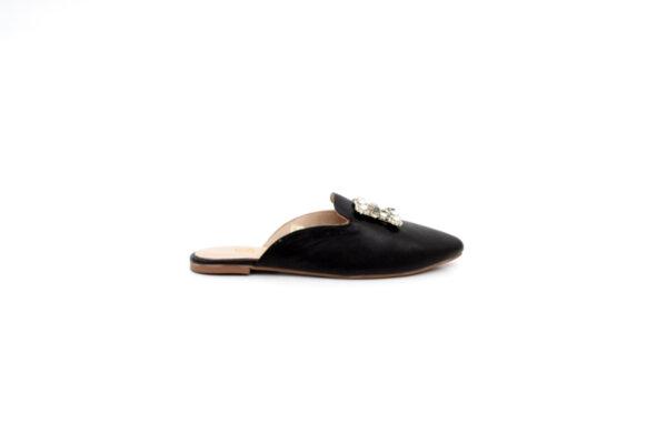 Дамски черни чехли от естествена кожа 32.4018
