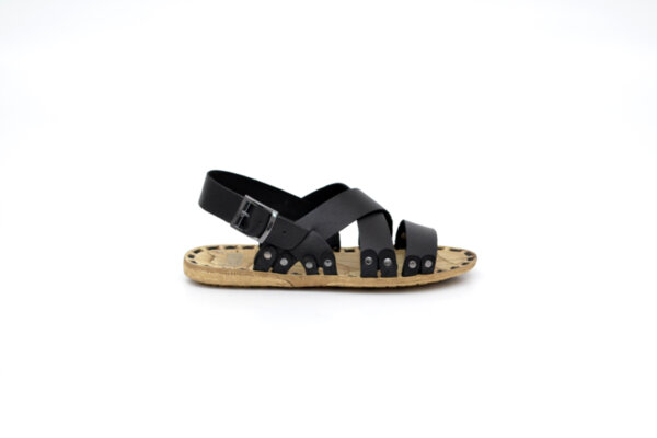 Мъжки черни сандали от естествена кожа 13.1716