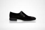 Елегантни мъжки черни обувки от естествен велур 11.7223