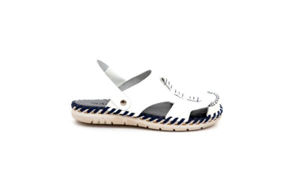 Мъжки бели сандали от естествена кожа 13.1704
