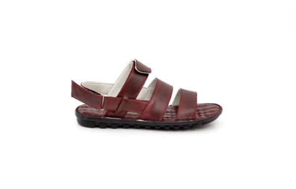 Мъжки сандали от естествена кожа в цвят бордо 13.1723