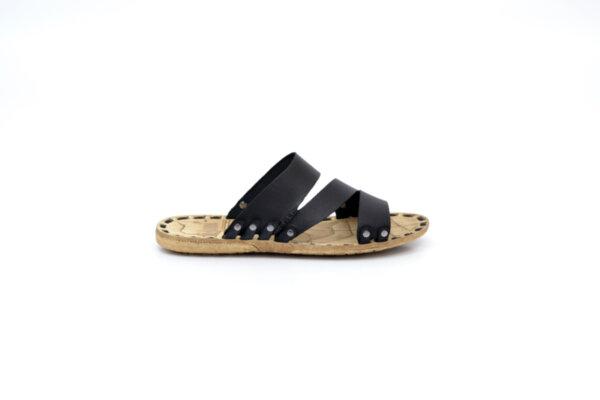 Мъжки черни чехли от естествена кожа 13.1711