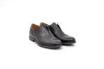 Елегантни сиви мъжки обувки от естествена кожа 50.098