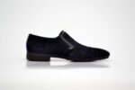 Елегантни мъжки сини обувки от естествена кожа 11.7223