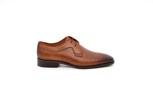 Елегантни камелени мъжки обувки от естествена кожа 18.1101