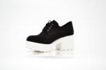 Ежедневни черни дамски обувки от текстил 06.2876