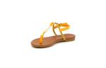 Ежедневни жълти дамски сандали от естествена кожа 05.7123
