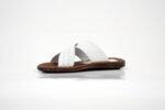 Мъжки бели чехли от естествена кожа 11.711